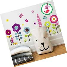 Flower Wall Stickers For Kids Floral Garden Wall Decals For Girls Room Re For Sale Online