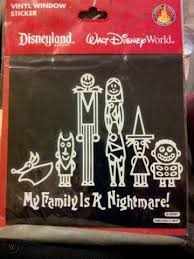 Disney Parks Jack Skeleton Nightmare Before Christmas Auto Car Decal New Contemporary 1968 Now Disneyana Contemporary 1968 Now Collectibles
