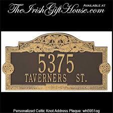 personalized irish address plaque