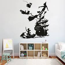 Peter Pan Wall Decal Boy Dream Cartoon Decals Pirates Ship Decor Wall Sticker Kids Room Bedroom Waterproof Vinyl Decals Sticker For Wall Sticker For Wall Decoration From Joystickers 12 66 Dhgate Com