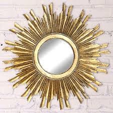 gold sunburst mirror antique farmhouse