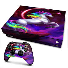 Amazon Com It S A Skin Xbox One X Console Controller Decal Vinyl Wrap Unicorn Rainbows Space Video Games