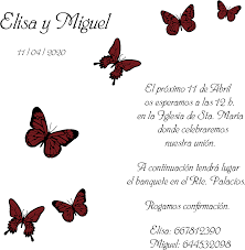 Invitaciones Para Boda Con Mariposas High Resolution Png