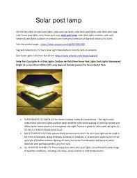 Solar Post Lamp
