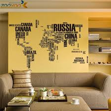 Letters Global Maps Wall Stikers Office Living Room Decor Wall Art Home Decals Black Or White World Map Wall Stickers Aliexpress
