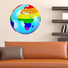 Zoomie Kids Maps Earth In Lgbt Style Wall Decal Wayfair