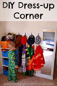Diy Preschool Dress Up Corner Happy Brown House