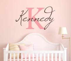 Amazon Com Girls Custom Name And Initial Wall Decal Sticker 40 W By 23 H Girls Name Wall Decals Wall Decor Personalized Girls Decor Girls Nursery Girls Bedroom Plus Free White Hello Door