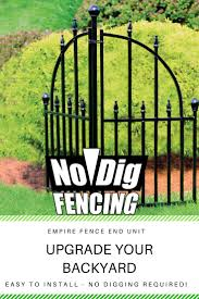 Looking For An Easy To Install Garden Border Fence The No Dig Empire Fence End Unit Is A Great Option With Quick C Metal Fence Panels Fence Panels Metal Fence