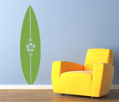 Hibiscus Surfboard Wall Decals Trading Phrases