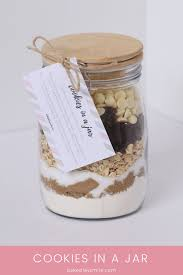 cookies in a jar homemade gift with