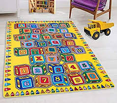 Amazon Com Hr Kids Rugs For Playroom Bedroom 5x7 Boys Girls Children S Room Decor Fun Abc Alphabet Blocks Interactive Gift For Kids Boys Girls Educational Learning Mat Rug Carpet For Nursery School Playroom Furniture