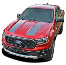 Nomad Hood Ford Ranger Hood Stripes Vinyl Graphics Decals Kit 2019 2020 Moproauto Professional Vinyl Graphics And Striping
