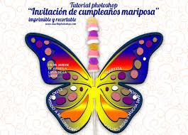 Tutorial Ps Invitacion Cumpleanos Mariposa Invitaciones De