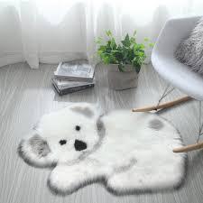 Faux Fur Rug Mat Panda Koala Animal Shape Carpet Rug Kids Room Soft Shaggy Fluffy Plush Carpet Living Room Bedroom Long Hair Mat Buy At The Price Of 27 48 In Aliexpress Com