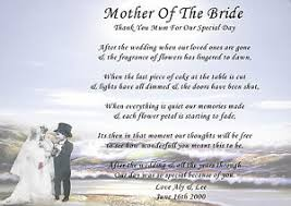 personalised wedding mother of the