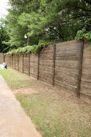 build a wood fence on a chainlink fence