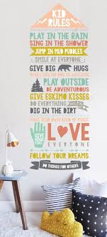Wall Decal Kids Rules Wall Sticker Room Decor Etsy