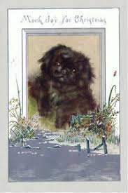 Pekingese Puppy Dog by Maude West Watson 1920's LARGE New Blank Note Cards