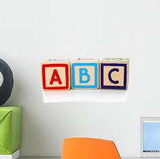 Blocks Easy As Abc Wall Decal Wallmonkeys Com