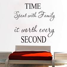 Time Spent With Family Is Worth Every Second Wall Stickers Art Character Hot Quote Words Letters Wall Decals Black 1 Amazon Com