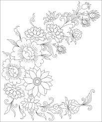 Boeket Bloemen Kleurplaten Pagina Voor Volwassenen Clipart Afbeelding