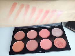 makeup revolution blush palette hot e