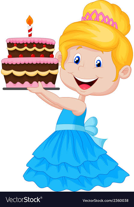 Image result for cartoon birthday girl""