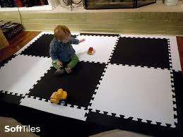Black And White Playmat Foam Floor Mats For Kids Softtiles