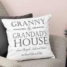personalised grandpas house cushion