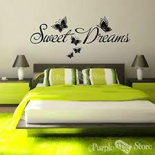Sweet Dreams Butterflies Vinyl Art Home Walls Quote Decal Sticker Decoration Ebay