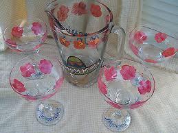 hand painted margarita set of 6