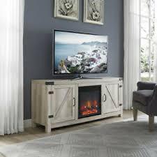 barn door fireplace tv stand white oak