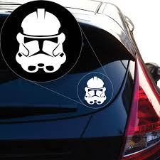 Graphics Star Wars Clone Trooper Vinyl Decal Sticker 852 4 X 3 1 White Wish
