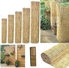 Bargains Hut Natural Peeled Reed Fence Garden Privacy Fence Wind Break Screening Wall 4m Roll 1 1 8m X 4m 180x400cm Amazon Co Uk Garden Outdoors