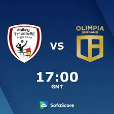 Volley Tricolore Reggio Emilia Olimpia Caloni Agnelli Bergamo live score,  video stream and H2H results - SofaScore