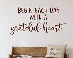 Grateful Wall Decal Etsy