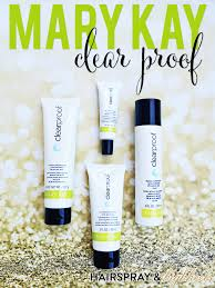 mary kay clear proof hairspray and