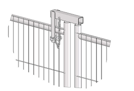 Gate Hinge For Temporary Fencing Panel First Fence Ltd