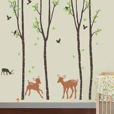 Cherrycreekdecals Tranquil Woodland Nursery Wall Decal Reviews Wayfair