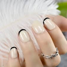 candy khaki french fake nails tips kids