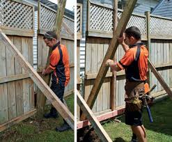 How To Fix A Leaning Fence Diy Guides Mitre 10