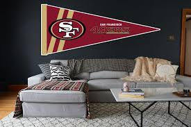 San Francisco 49ers Pennant Sticker Vinyl Decal Sticker 10 Sizes Sportz For Less
