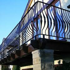 Popular Outdoor Curved Edge Wrought Iron Balcony Fence Designs For Sale From Ironwork Factory China Iok 149 You Fine Sculpture