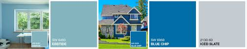 the best blue hues for the exterior of