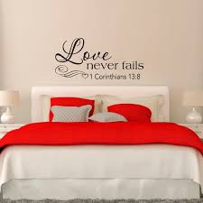 Love Never Fails 1 Corinthians 13 8 Wall Decal Bedroom Decor Etsy