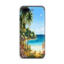 Skin For Apple Iphone 7 8 Plus Skins Decal Vinyl Wrap Stickers Cover Beach Water Palm Trees Walmart Com Walmart Com