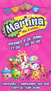 Shopkins Invitacion Virtual Personalizada Whatsapp Belgrano