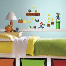 Mario Kids Room Design Wall Sticker Cool New Super Bros Stickers Independence
