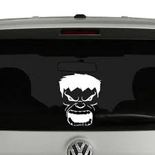 Hulk Face Vinyl Decal Sticker Car Window Ebay